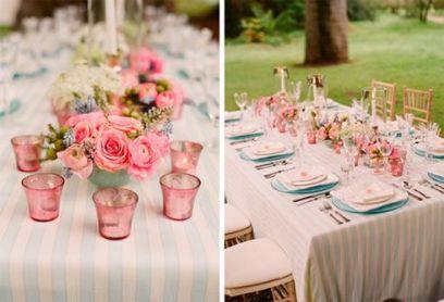 Decoración de mesa para una pedida de mano en el campo. Vía Pinterest.