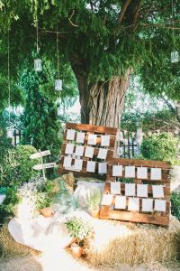 Protocolo de mesas para una boda romántica y sencilla. Vía Pinterest.