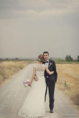 Romántica instantánea de una pareja recién casada. Vía Pinterest.