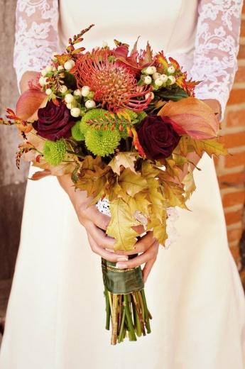 ramo de novia otoño