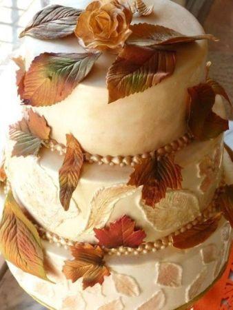 tarta de boda otoñal