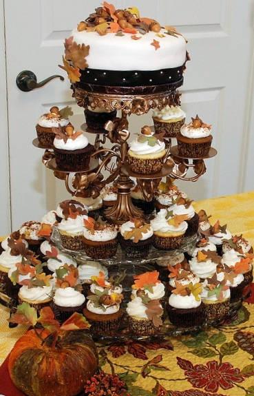 torre cupcakes boda otoño