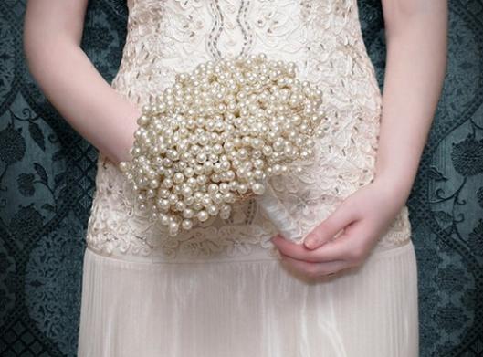 ramo de novia perlas