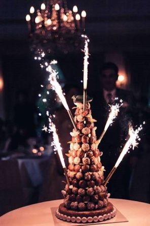 tarta de boda bengalas
