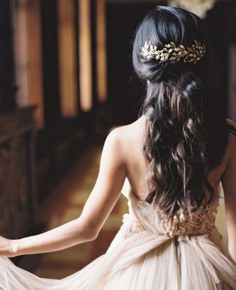 tocado de novia oro viejo innovias