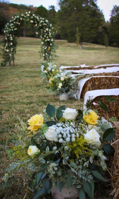Balas de paja boda rural