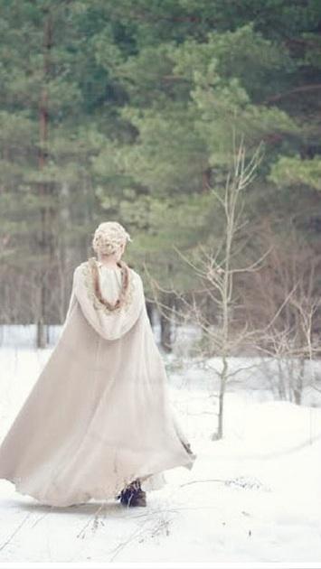 capa novia invierno
