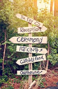 carteles indicadores boda