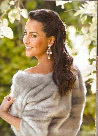chaqueta de pelo novia
