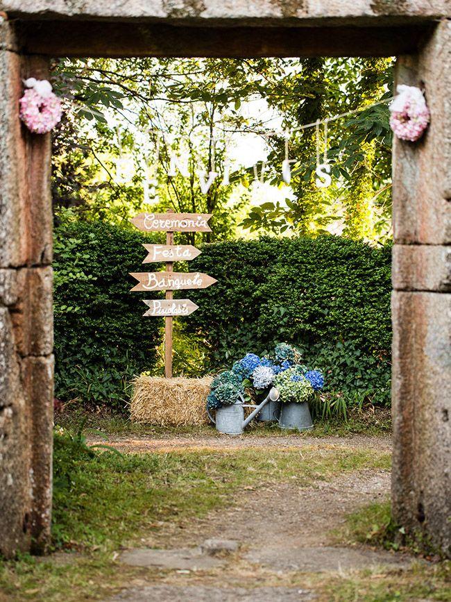 entrada boda rural