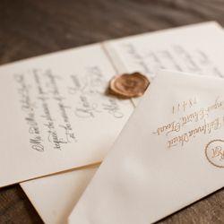 invitaciones de boda con caligrafía
