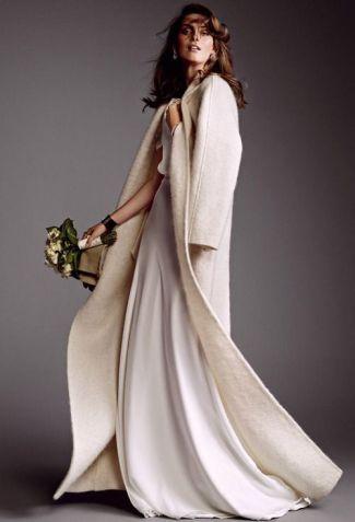 novia de invierno abrigo de paño innovias