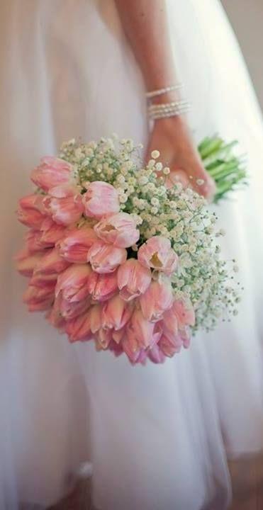 ramo de novia tulipanes rosas
