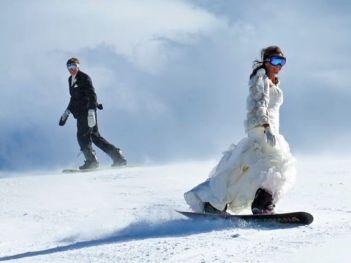 trash the dress snow