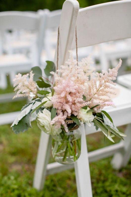 arreglo floral silla rosa cuarzo
