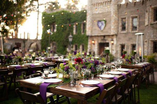 decoración de bodas medieval