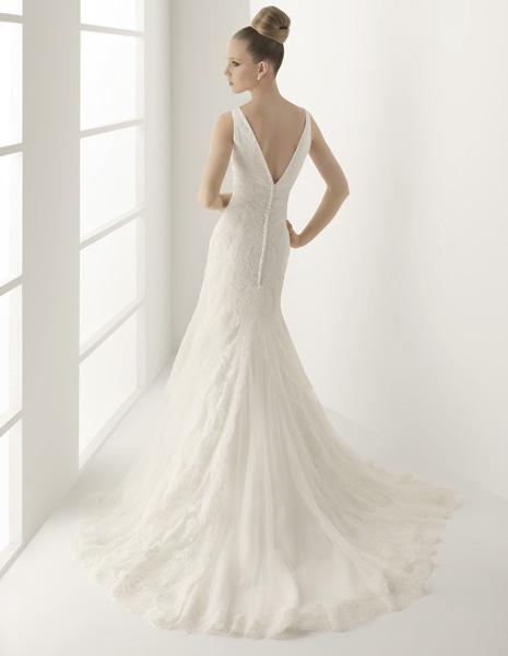 Vestido de novia cola de pato