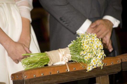 ramo de novia margaritas sencillo