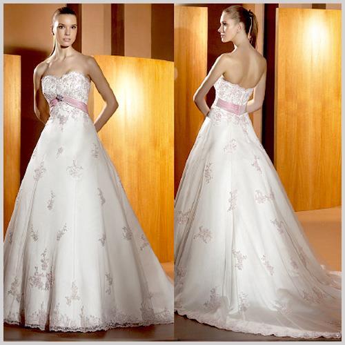 Vestido de novia rosa marina