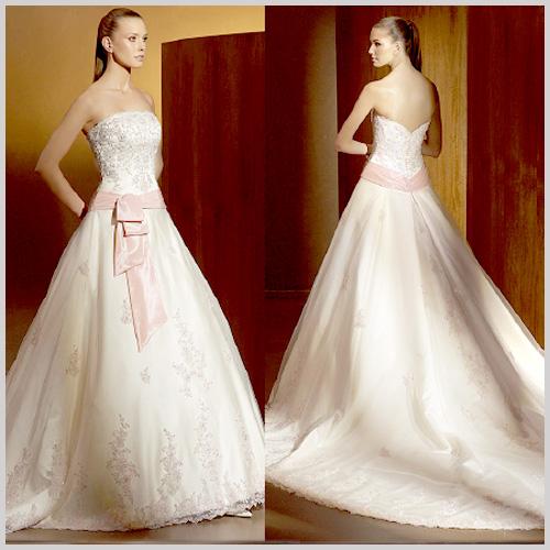 vestidos de novia detalles rosas – vestidos de boda