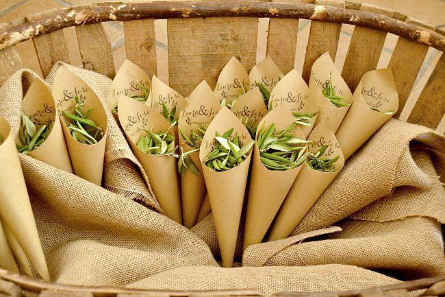 cucuruchos para lluvia de olivos
