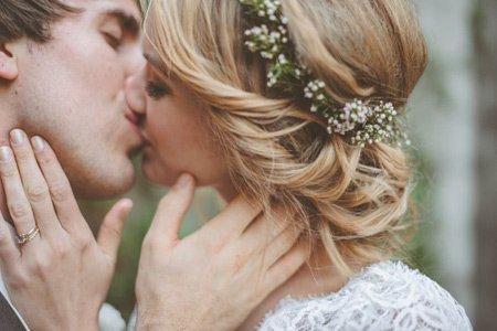 Peinado novia flores
