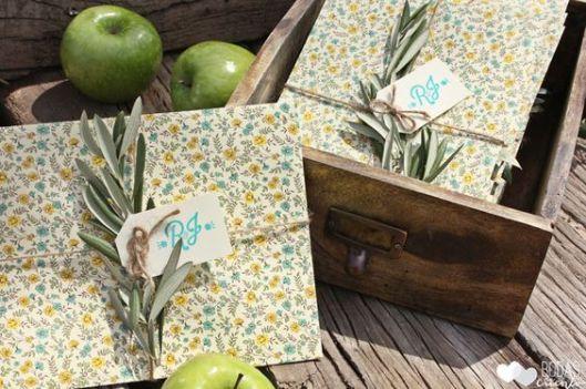 invitaciones con ramas de olivo