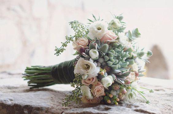 suculentas ramo novia