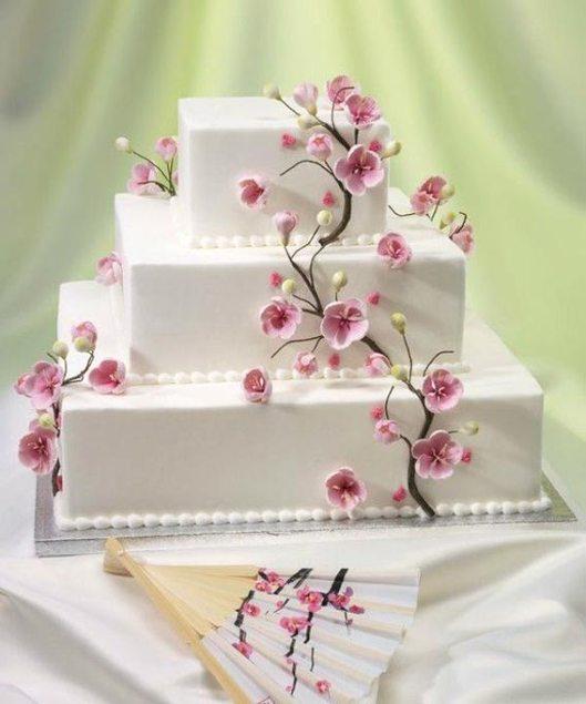 Tarta boda decoracion flor almendro