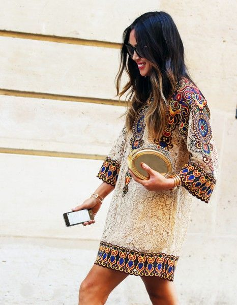 look invitada boho chic