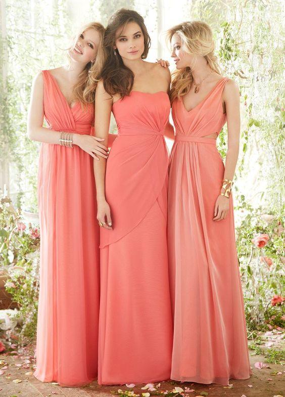 Vestidos para damas de honor bonitos
