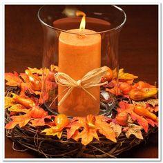 centros-mesa-boda-naranja-hojas