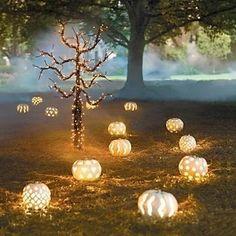 decoracion-velas-y-calabazas-boda-halloween