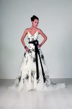 Donde comprar vestidos de novia blanco y negro