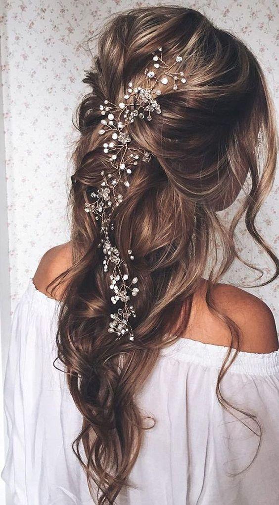 Peinados de novia boho chic