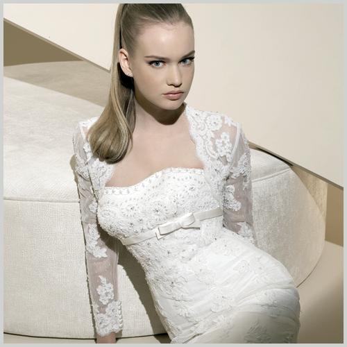Modelos de boleros para vestidos de novia