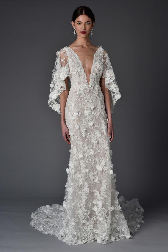 vestidos de novia con flores 3d | innovias