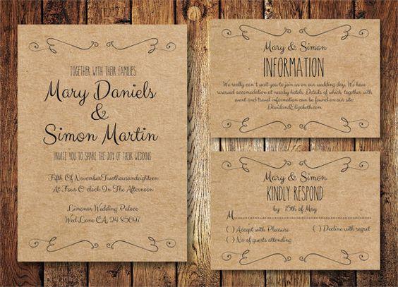 Invitaciones Para Matrimonio Rustico : Inspiración innovias una novia y boda eco friendly