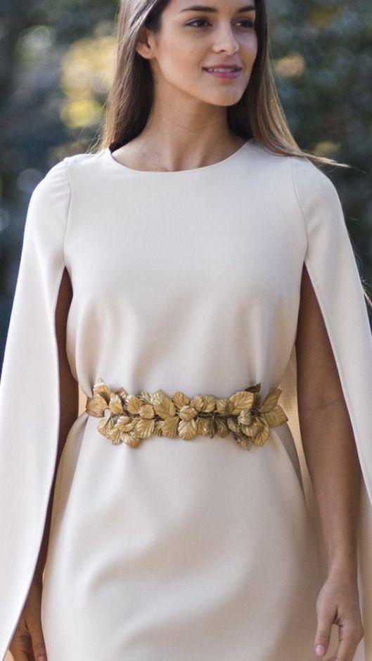 4f88538a9 Es el caso de este precioso cinturón joya para vestidos de novia con hojas  doradas de porcelana fría diseñado artesanalmente y con cinta ajustable de  ...