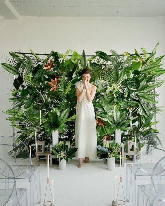 5587b1f632 Inspiración Innovias  decora tu boda con helechos y dale un look greenery
