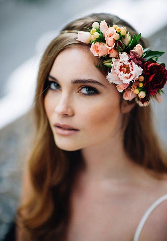 Peinados de novia cabello liso