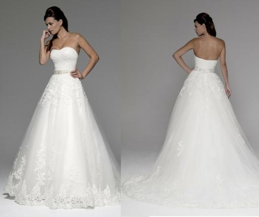 9e6d40e82 Vestido de novia princesa de tul Amelia de Innovias.