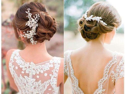 Peinados de novia con poco pelo
