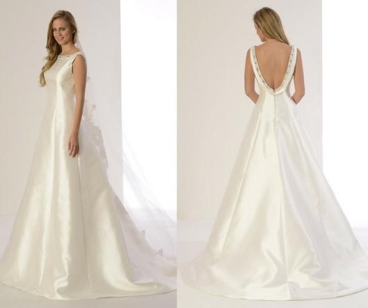 667daab868 Si te gusta el corte en A de este vestido de novia te encantará el vestido  de novia Paloma de Innovias.
