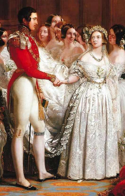 845808d7afd0 Ilustración del vestido de novia de la Reina Victoria de Pinterest