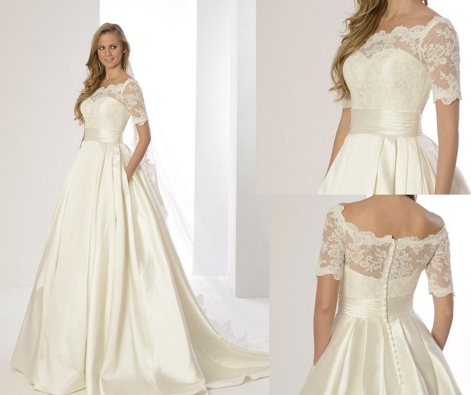 Vestidos de novia sencillos y delicados