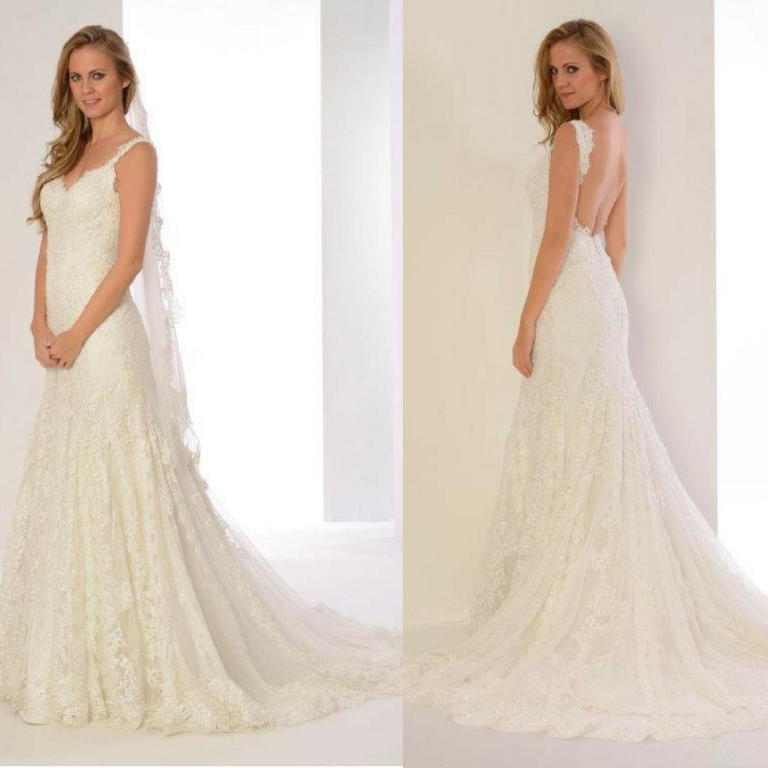 Vestidos de novia espalda descubierta baratos