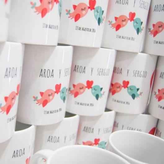 e8b6dff3701 Tazas personalizadas boda para los invitados de venta en Fiesta y Boda
