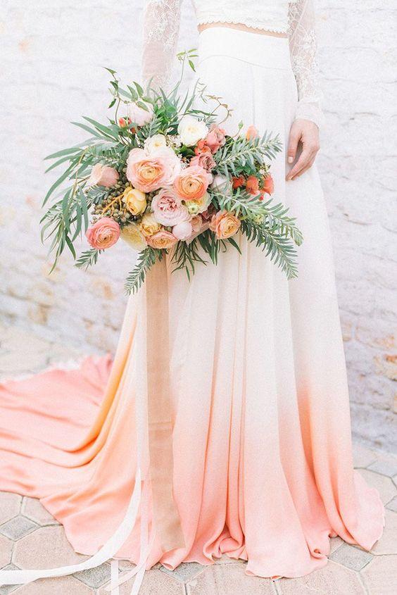 Vestido coral boda 2019