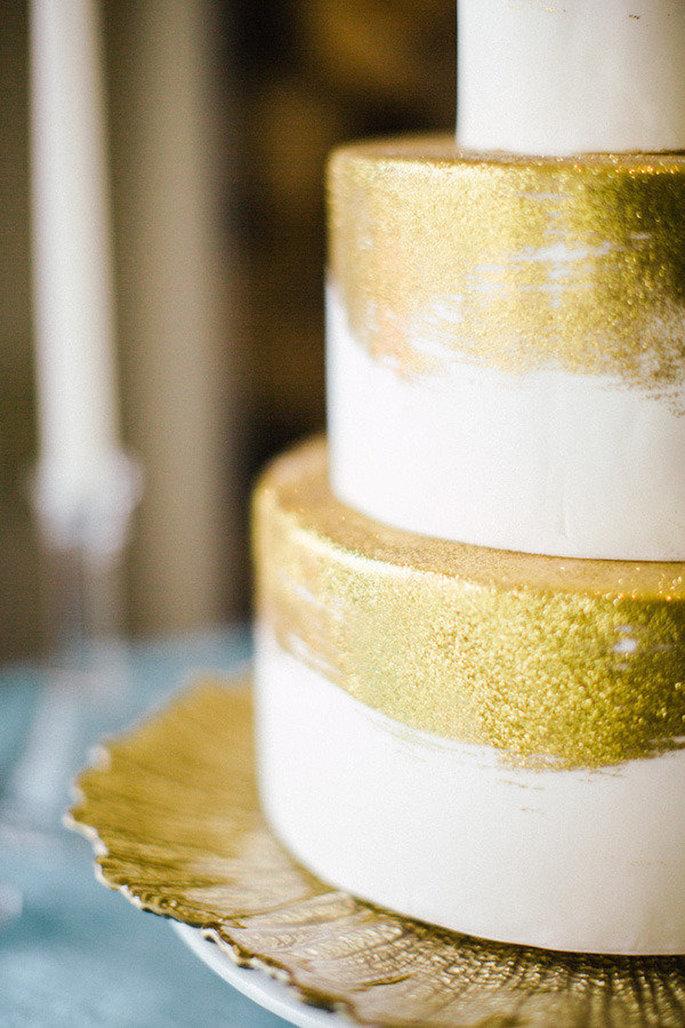 Tarta de boda. Foto: Scott Andrew Photography